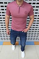 Мужская футболка поло Billionaire H0543 розовая
