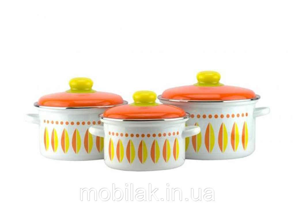 Набір емальованого посуду 3 предмети Мята 2-3176/6 ТМЕМАЛЬ