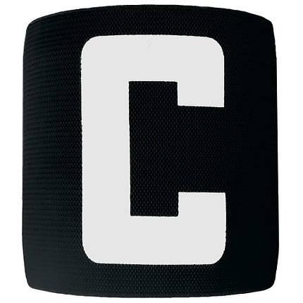 Капитанская повязка на липучке SWIFT Capitans Band, черная, Junior, фото 2