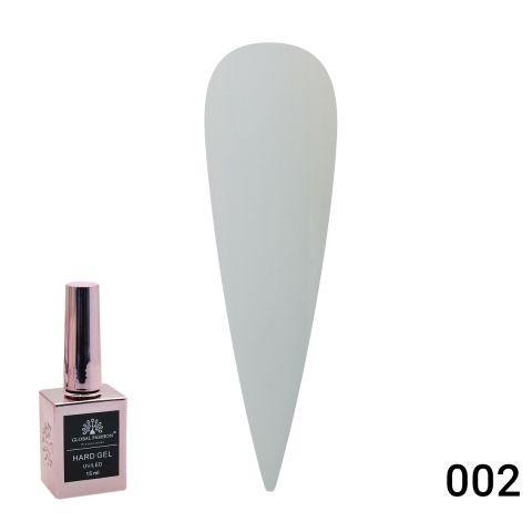 Hard gel (твердий гель з пензликом) Global Fashion, 15ml №02 - білий