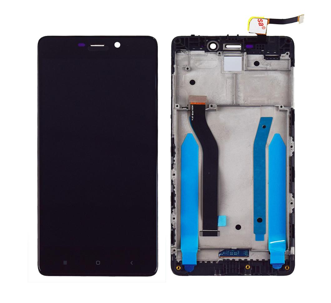 Дисплей + сенсор с передней панелью для Xiaomi Redmi 4 Pro Black