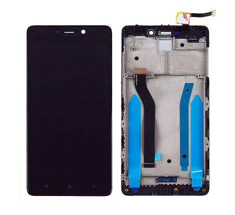 Дисплей + сенсор с передней панелью для Xiaomi Redmi 4 Pro Black, фото 2
