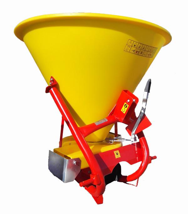 Разбрасыватель минеральных удобрений садовый  Strumyk 500 (пластик, диск из нержавейки) для трактора