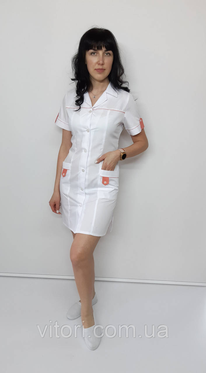 Медицинский женский халат Танго хлопок короткий рукав