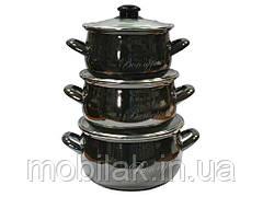 Набір ем. посуду 3-предмети кр. скло, Bon appetit (Т)2234А 00070097 ТМINTEROS