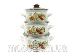 Набір ем. посуду 3-предмети кришки скло, Вірджин (Т)15157 00072722 ТМINTEROS