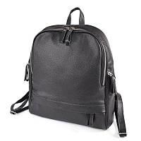 Черный женский рюкзак кожаный вместительный городской М270 black, фото 1