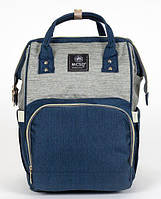 Сумка-рюкзак MK 2878, сине-серый