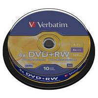 Диск DVD Verbatim 4.7Gb 4x CakeBox 10 шт silver (43488)