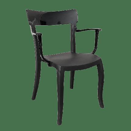 Кресло Papatya Hera-K черное сиденье, верх черный, фото 2