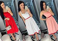 Летнее женское платье на брительках /разные цвета, 42-46, ft-487
