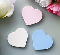 "Спонжи для макияжа 3шт в наборе ""Сердце"" Гранд Презент 8654"