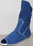 Летние сапоги женские джинсовые больших размеров от производителя модель МИ4067-6Р, фото 2