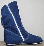 Летние сапоги женские джинсовые больших размеров от производителя модель МИ4067-6Р, фото 3