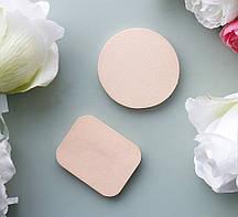 Спонжи косметические для макияжа квадрат и круг 2 шт Гранд Презент 8653