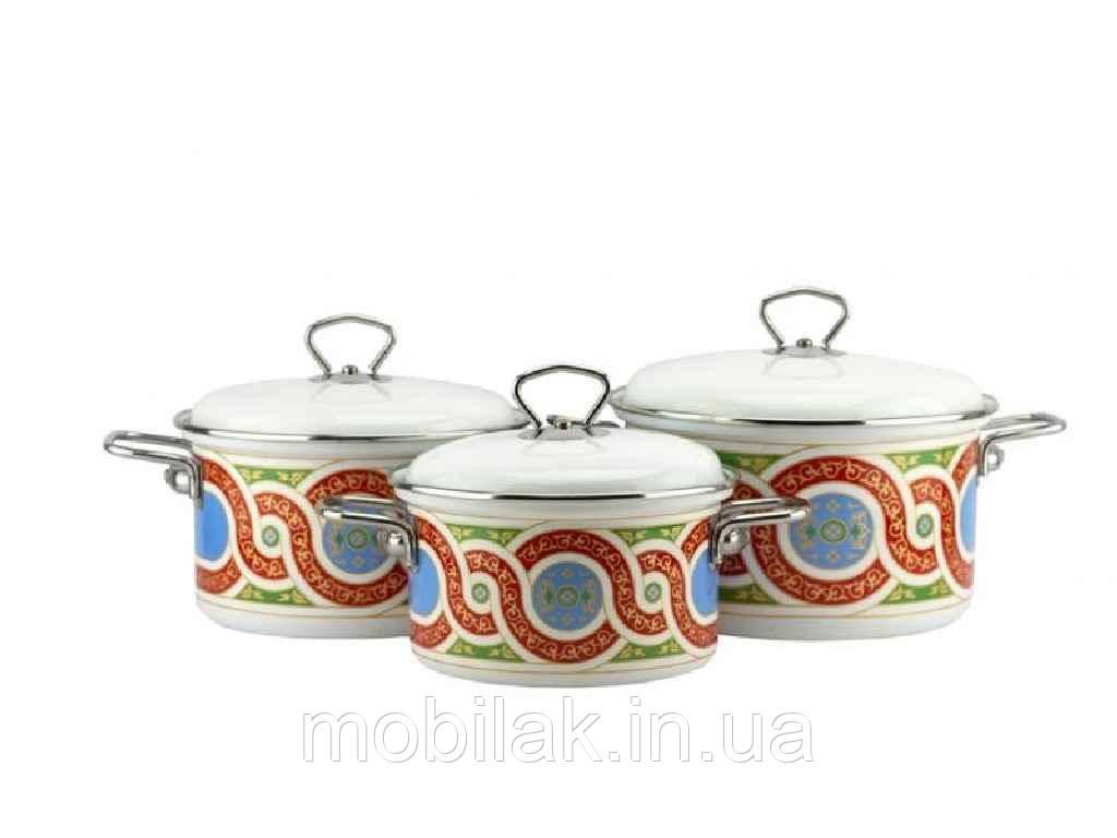 Набір емальованого посуду 3 предмети Схід 2-3152/7 ТМЕМАЛЬ