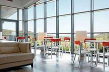 Стул Papatya Opera-S сиденье белое, верх прозрачно-тёмно-красный, фото 3