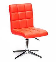 Офисный стационарный стул Августо Augusto Modern Base красная экокожа