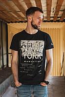ФУТБОЛКА черная с надписью NEW YORK
