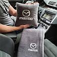 """Автомобільний набір: подушка і плед з логотипом """"Mazda"""" колір на вибір, фото 2"""