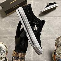 Кеды Converse One Star Premium Suede Black
