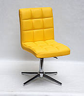 Офисный стационарный стул Августо Augusto Modern Base желтая экокожа