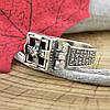Серебряное кольцо Перстень с молитвой вставка белые фианиты вес 4.76 г размер 18.5, фото 3