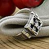 Серебряное кольцо Перстень с молитвой вставка белые фианиты вес 4.76 г размер 18.5, фото 2