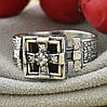 Серебряное кольцо Перстень с молитвой вставка белые фианиты вес 4.76 г размер 18.5, фото 4