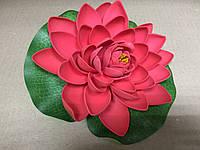 Цветок Лотоса декоративный плавающий 17х17х5 красный