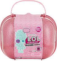 Кукла LOL в огромном чемодане. Набор куклы ЛОЛ розового цвета.