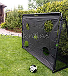 EXIT футбольные ворота стальные Coppa Tor 220 х 170 см чёрные, фото 9