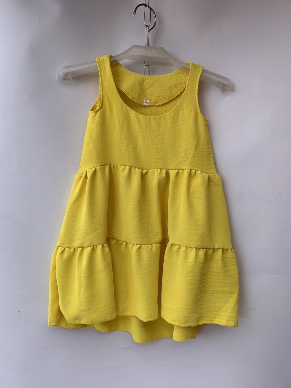 Детское платье на лето для девочки р. 92-116 желтое