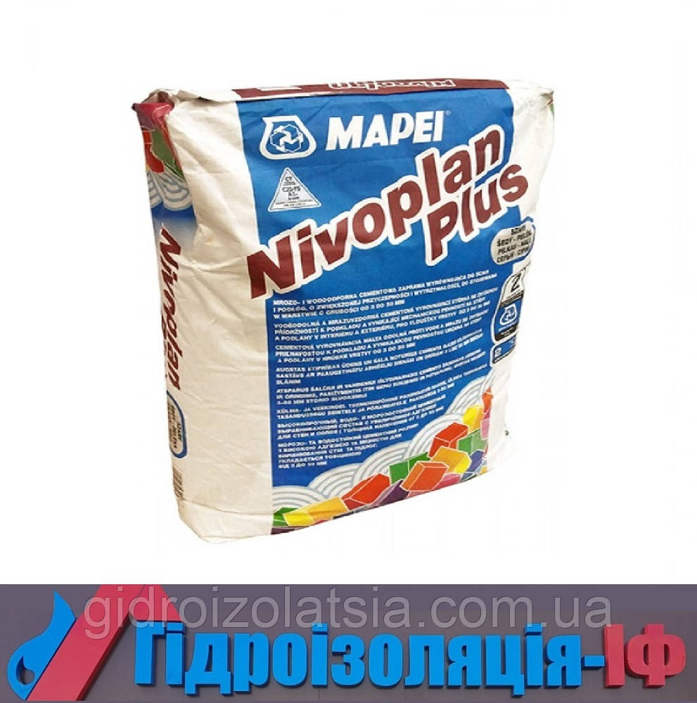 Суміш на цементній основі для вирівнювання стін, стель та підлог Nivoplan Plus