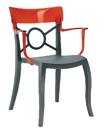 Кресло Papatya Opera-K сиденье антрацит, верх прозрачно-красный, фото 2