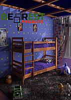 Ліжко двоярусне з натурального дерева Софія