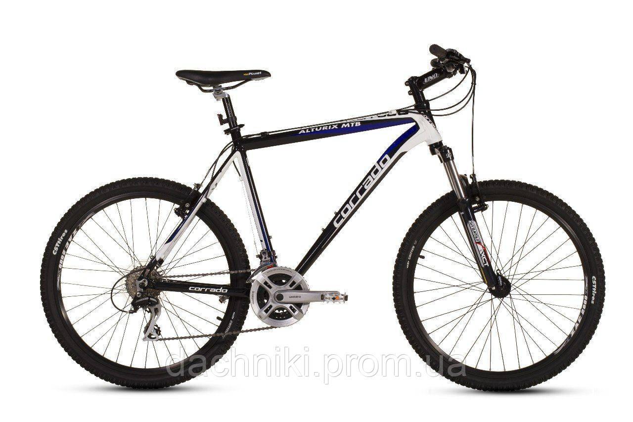 """Велосипед CORRADO ALTURIX VB MTB 26"""" 16"""" Черный/Белый"""