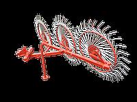 Грабли  для  мототрактора  ворошилки  3-колесные «Сонечко»  (крепление 1 точка)