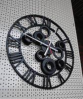 """Часы настенные """" Шестеренка"""" цвет- черный."""