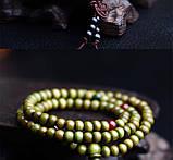 Браслет-четки зелёные узел счастья на удачу, фото 2