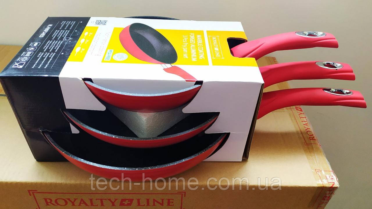 Набір сковорідок Royalty Red Line RL-FM3M 3 pcs