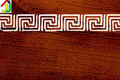 Лента декоративная 50мм  Бленда для потолочного карниза КСМ Меандр дуб элегант