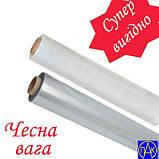 Стрейч плівка для упаковки товару прозора екстра посилена 400 метрів 10 мкм 2 кг Polimer PAK, фото 5