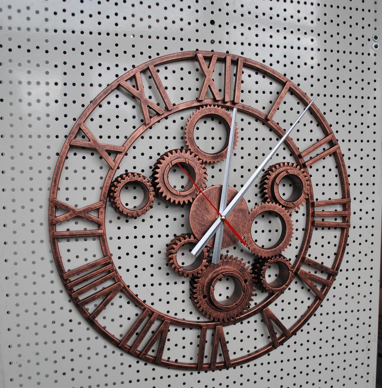 """Часы настенные """" Шестеренка"""" цвет- старая медь."""