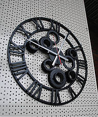 "Часы настенные "" Шестеренка"" цвет- старая медь., фото 3"