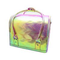 Сумка-чемодан для мастеров визажа, маникюра, парикмахера. Розовый перламутр