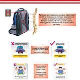 Рюкзак ортопедический школьный, Dr.Kong Z1116011D, синий, размер S, фото 3