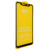 Защитное стекло TDG 9D для Xiaomi Mi 8 Full Glue черный 0,26 мм в упаковке