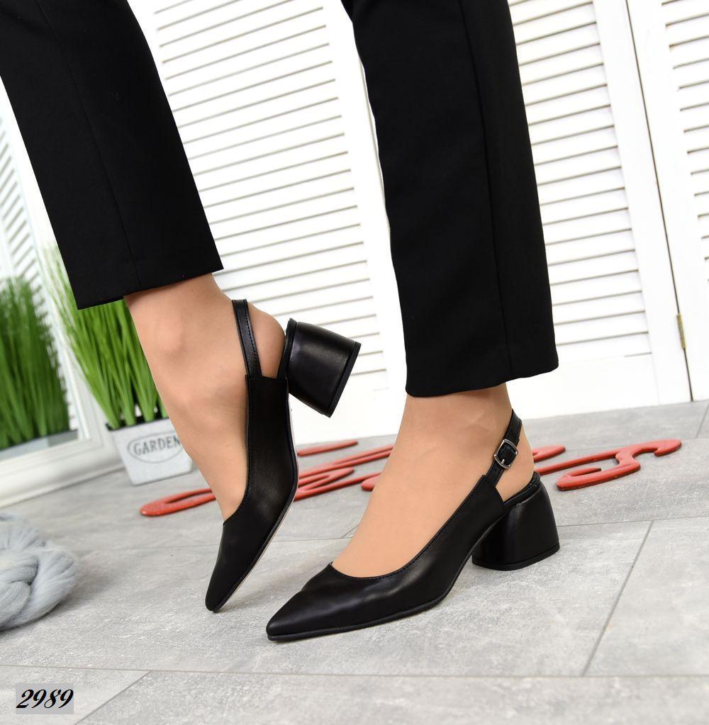 Женские туфли черные, натуральная кожа (в наличии и под заказ 3-14 дней)