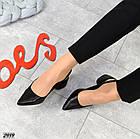 Женские туфли черные, натуральная кожа (в наличии и под заказ 3-14 дней), фото 4